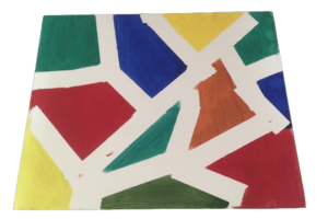 Geometric shapes painting
