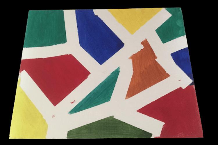 Geometric shapes painting