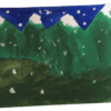 Snow-capped mountains painting